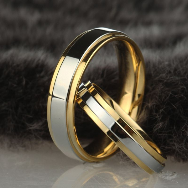 Couple Rings, 18k gold, wedding ring, Simple