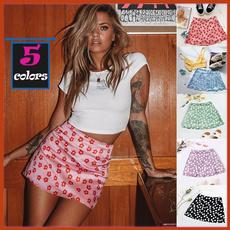 Fashion, high waist skirt, printedskirt, Ladies