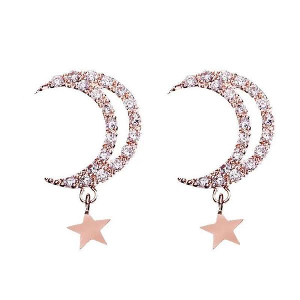 18k gold, Star, Jewelry, Earring