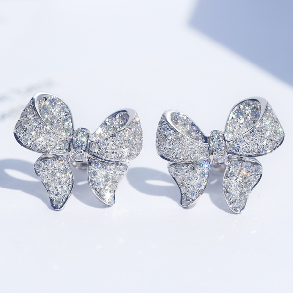 Sterling, cute, Sapphire, wedding earrings