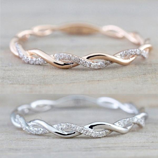 DIAMOND, Infinity, wedding ring, gold