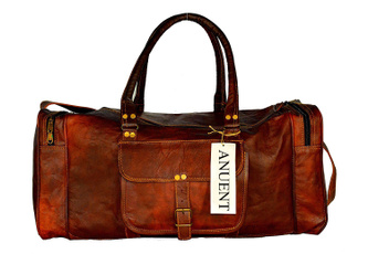 mansovernghtbag, duffelgymbag, leather, Travel