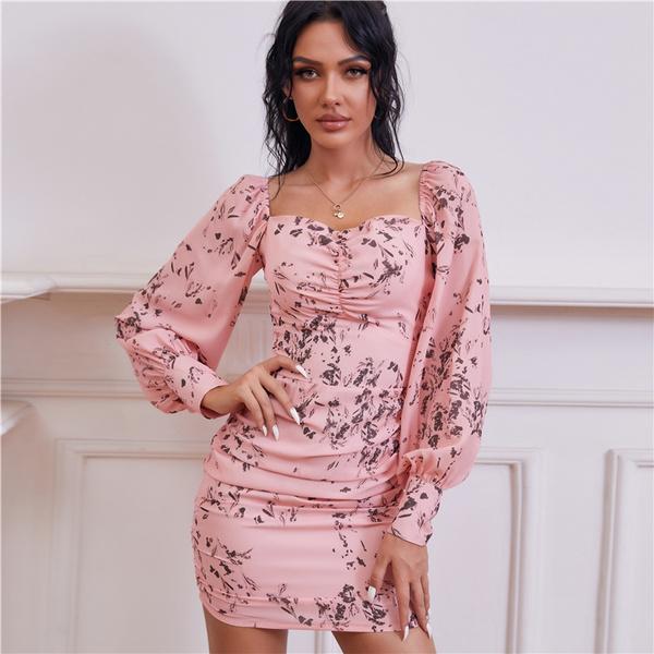 Floral print, Sleeve, Dress, Floral