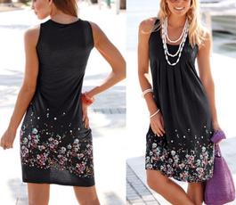 Sleeveless dress, Women's Fashion, Party Dress, printed