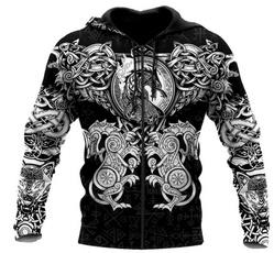 3D hoodies, Fashion, Zip, tattoo