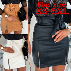 Plus Size, Lace, high waist skirt, leather skirt