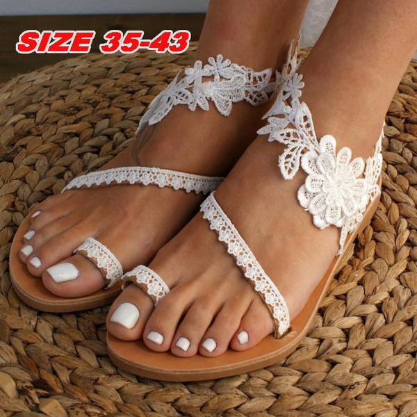 bohemia, Summer, Sandals, Lace