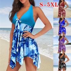 bathing suit, Plus Size, Halter, asymmetric