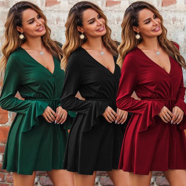 Summer, dressesforwomen, Necks, Sleeve