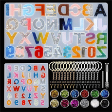 castingmold, jewelrymakingtool, alphabetsiliconemold, Silicone