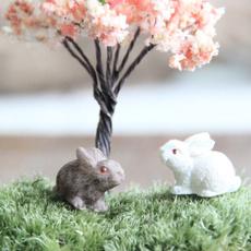 Mini, Farm, miniaturegarden, rabbitfigurine