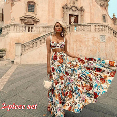 Sleeveless dress, printeddres, vest dress, Dress