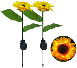 gardenlightstring, courtyarddecoration, Garden, Sunflowers