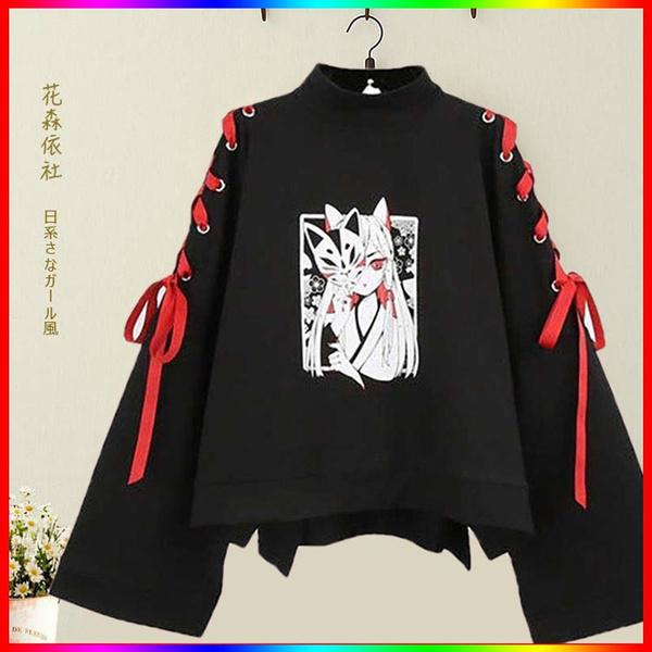 Fashion, Long Sleeve, punk, anime hoodie