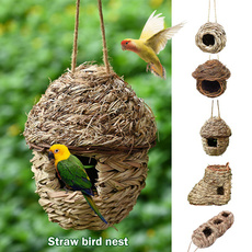 Decor, birdhanginghouse, birdcage, naturalstrawbirdscage