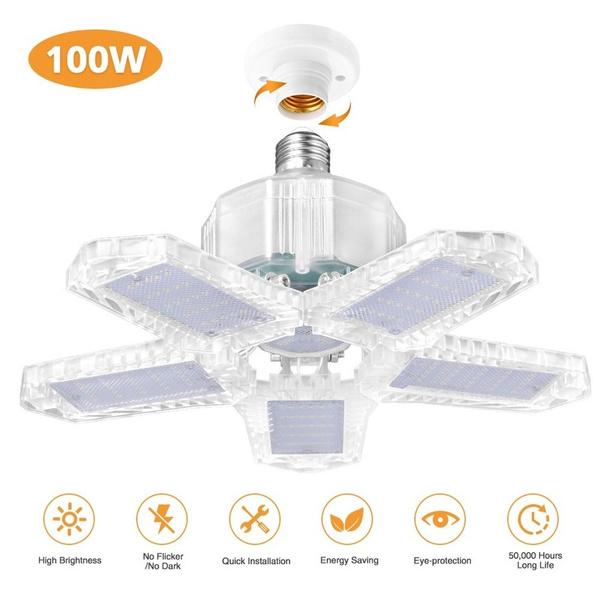ceiling, industrial, led, 100wledgaragelight