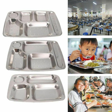 Steel, Plates, serving, divided