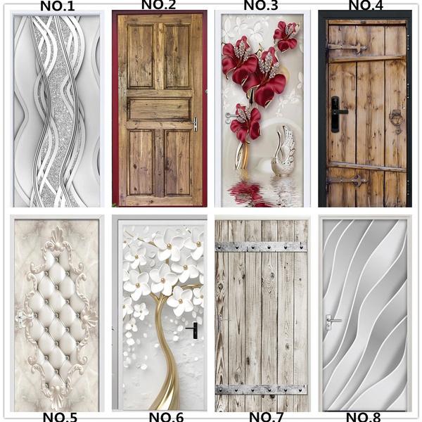 modernhomedesigndoordecor, Decor, peeandstickwallpaperfordoor, Door