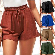 Summer, Outdoor, high waist, Elastic