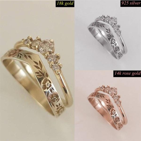 Sterling, Fashion, Women Ring, gold