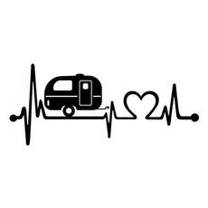 Car Sticker, Cars, Travel, camper