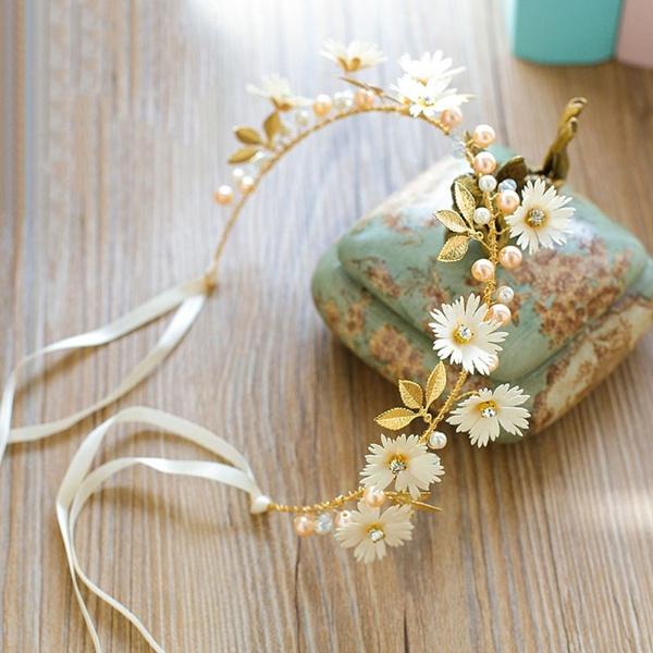 bridehairrope, Fashion, Chain, daisychainhairband