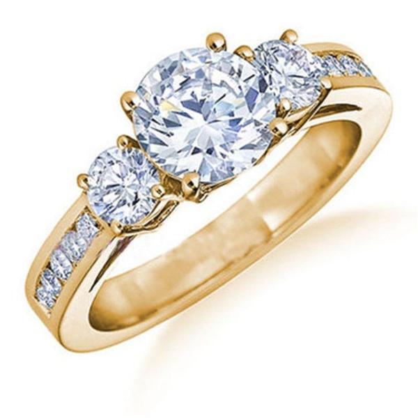 yellow gold, Wedding, Engagement, Rose Gold Ring