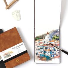 watercolor, watercolorpad, Notebook, art