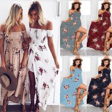 dressforwomen, Floral print, Summer, long dress