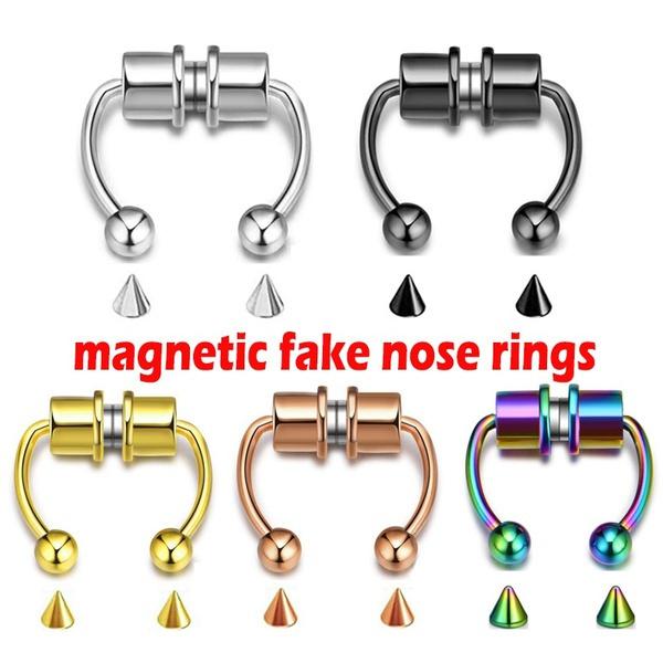 Steel, Jewelry, fauxseptumring, Stainless Steel