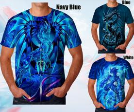 Blues, Fashion, 3dshirt, bluedragon