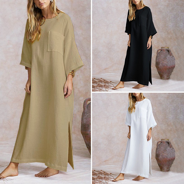 Plus Size, Long Sleeve, baggydres, Dress