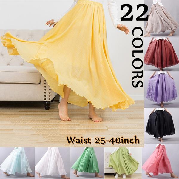 Skirts, long skirt, summer skirt, Elastic