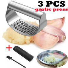 Steel, Kitchen, garlicpresstool, manualgarlicpresser