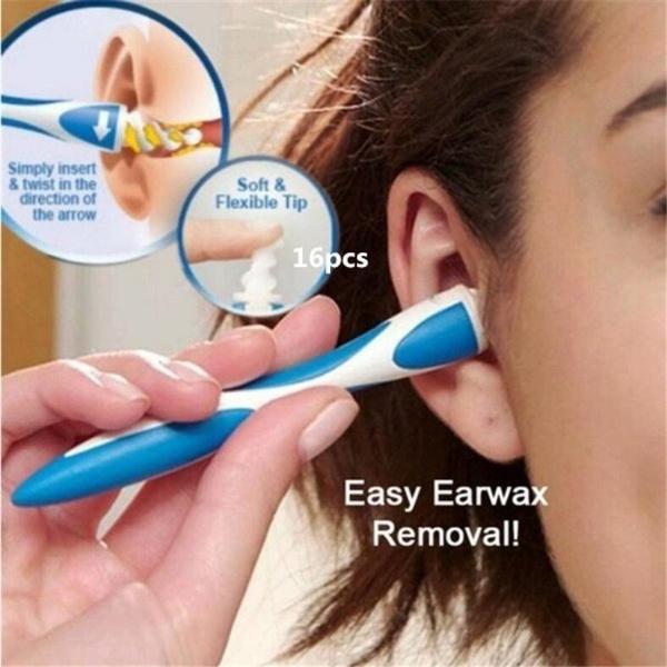 spiralearpick, earspoon, Silicone, earwax