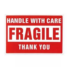 etiket, voorzichtig, Stickers, fragile