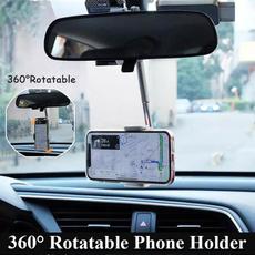 360degreerotating, rearviewmirrormount, Wool, phone holder
