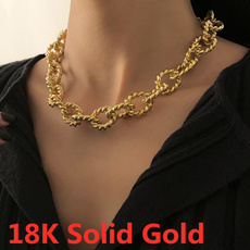 Party Necklace, hip hop jewelry, 18ksolidgoldchainforwomen, Chain