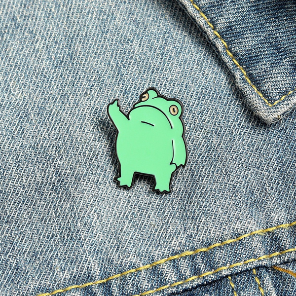frogpin, Funny, frogbrooch, Jewelry