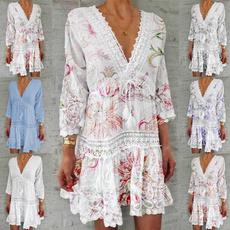 Summer, Moda, Encaje, printed