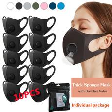 washable, spongemask, balckfacemask, Breathable
