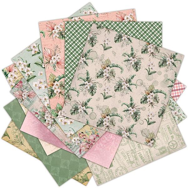 Flowers, Scrapbooking, scrapbookpaper, paperpad