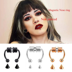 Steel, nopungentnosering, Jewelry, stainlesssteelnosering