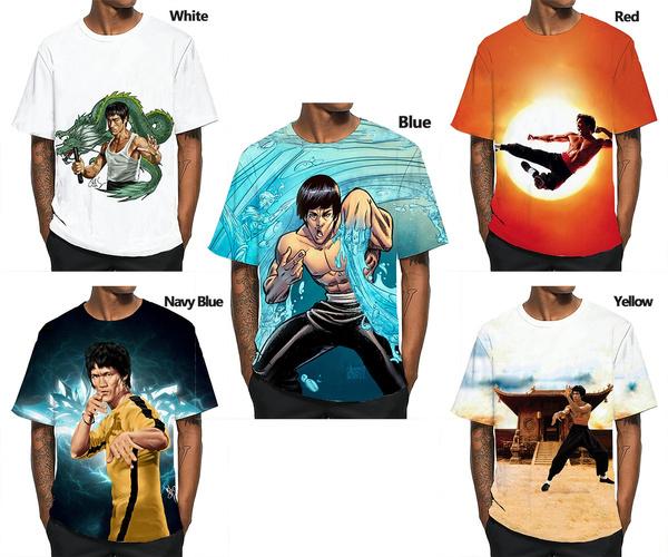 Mens T Shirt, Fashion, Lee, brucelee