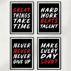 Decor, motivationalquote, art, Office