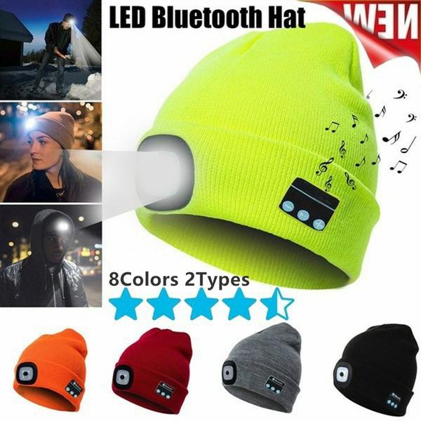 Warm Hat, luminousknittedhat, Fashion, led