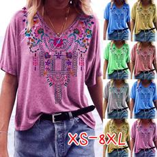 Clothes, Tops & Tees, Plus Size, Cotton T Shirt