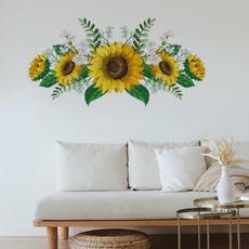 Decor, Flowers, Garland, Sunflowers