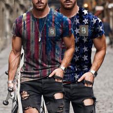 Summer, Fashion, Graphic T-Shirt, usaflagtshirt