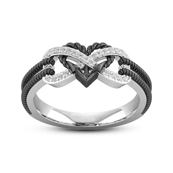 Sterling, Heart, heart ring, wedding ring